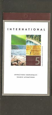 pk33240: BK260 : Canada Stamp Booklet 5 x $1.25 Tourist Attractions Issue - MNH