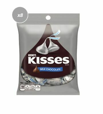 900698 10 x 43g PACKETS OF HERSHEY'S KISSES MILK CHOCOLATE 210 CALORIES PER PACK