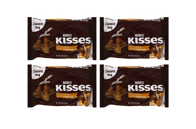 908040 4 x 311g CLASSIC BAGS OF HERSHEY'S KISSES CARAMEL FILLED MILK CHOCOLATE