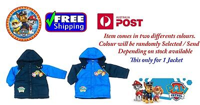 NEW Sz 2~5 JACKET BOYS PAW PATROL KIDS CHILD HOODIE WINTER COAT JUMPER OUTFITS