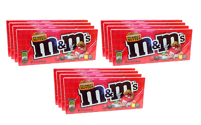 909332 12 x 85.1g BOXES OF PEANUT BUTTER M&M'S CHOCOLATE CANDIES AMERICAN