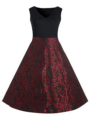 Plus Size Paisley Midi 1950s Vintage Dress