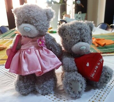ME TO YOU BEAR WITH PINK SETIN DRESS & BAG  NEW. 17cm. REDUCED NOW.