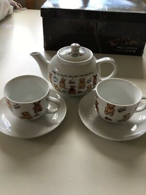 Paul Cardew Tea Set For 2 Boxed Teddy Bears
