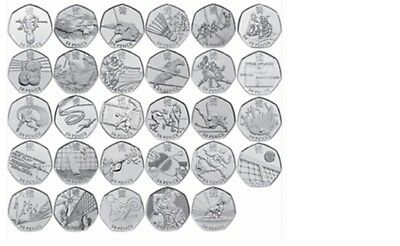 Olympic 50p coins Circulated but in good condition