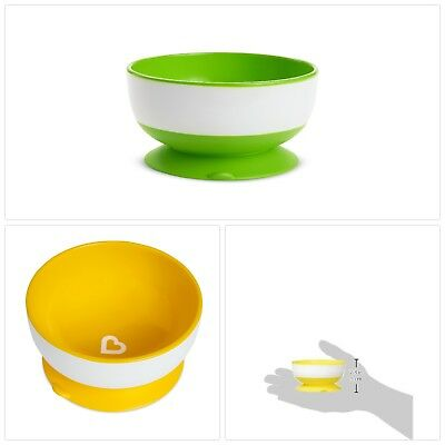 Munchkin Stay Put Suction Bowl 3 Count Different Size BPA Free Dishwasher Safe