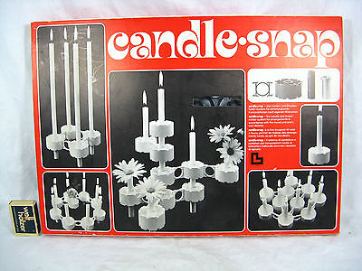 Cool NOS 70´s Lüthi design candle & flowerholder system candle snap + 10 candles