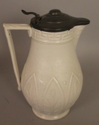 A Ridgway Jug with Pewter Lid