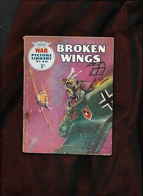 War Picture Library #49_Broken Wings_May 1960_G