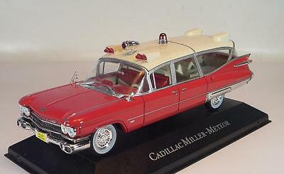 Atlas 1/43 Cadillac Miller Meteor Ambulance 1959 rot/weiß #2575