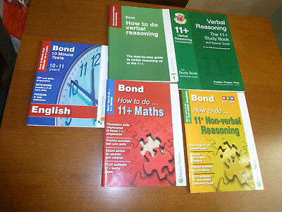 11+ Practice tutorial/how to do books plus English 10 minute tests (5 books)