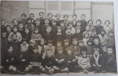 CARTE POSTALE PHOTO, GROUPE SCOLAIRE, PHOTO DE CLASSE DONJEUX 1928, 52 Hte MARNE