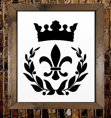 Paris Damask Style Vintage Quote Mylar Airbrush Painting Wall Art Crafts Stencil