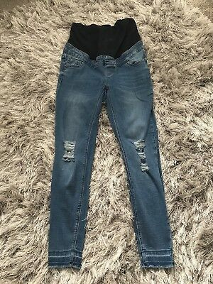 New Look Maternity Jeans size 8 - Skinny Ripped & Over Bump