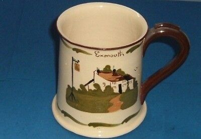 """Torquay Pottery.   Babbacombe  ,  Beer  Tankard  """"  First  Today """"  ( 495)"""
