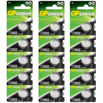 15 x GP Lithium CR2032 DL2032 CR 2032 3V Coin Cell Batteries EXP:2027