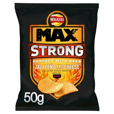 Walkers Max Strong Jalepeno & Cheese Crisp 50g x 24 bag