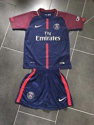 Paris Saint Germain Kinder Trikot Neu 2017/18 10 Neymar 152
