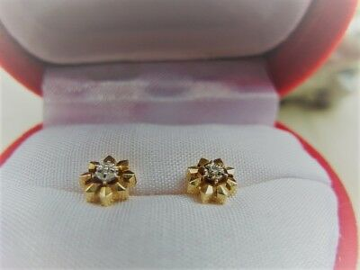 Ohrringe / Stecker  585 Gold mit Diamant