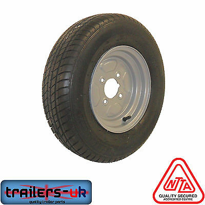 """10/"""" Trailer Wheel /& Tyre 500 X 10-4 Ply 4/"""" PCD **FREE DELIVERY**"""