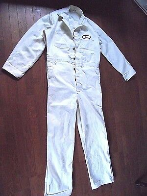 COVERALLS VTG LABORATORY White Twill Work PITTSBURGH TESTING PATCH size 42 CALCO