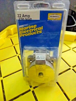 Hubbell Marine Electrical Products Phone TV Shore Inlet P//N HBLPHTVSS
