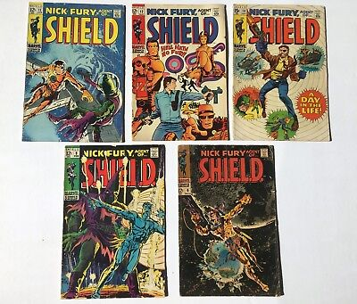 Nick Fury, Agent of SHIELD #6 #9 #11 #12 #14 (Marvel, 1968) Comic Lot - Avengers