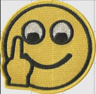 Have A Nice Day! Smiley Face 1 OF 200 Moral Patch Hook and Loop Back