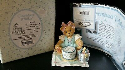 Cherished Teddies Sweet Sixteen Birthday Figurine, with box and COA