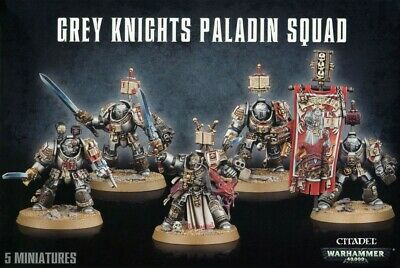Grey Knights Paladin Squad Games Workshop Warhammer 40,000 Space Marines New