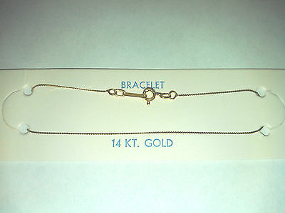 """14K GOLD CHAIN 7"""" inch BRACELET- SOLID YELLOW GOLD - NEW"""