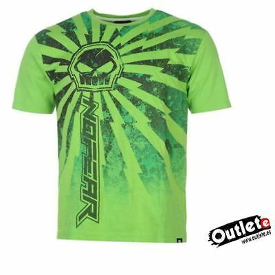 CAMISETA FASHION NO FEAR MOTO GRAPH GREEN THUNDER Talla M VERDE