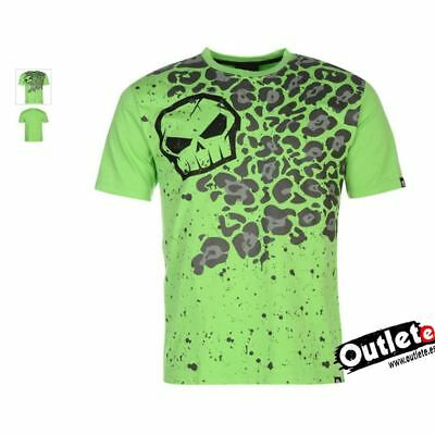 CAMISETA MOTO FASHION NO FEAR MOTO GRAPHIC GREEN LEOPARD Talla L VERDE/NEGRO