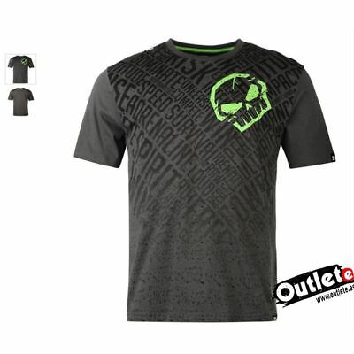 CAMISETA MOTO FASHION NO FEAR MOTO GRAPHIC SKULL BLACK AOP Talla L NEGRO