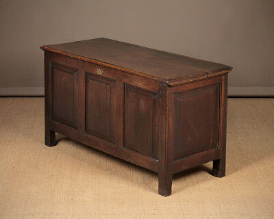 Antique 18th.c. Oak Coffer or Dower Chest c.1790.