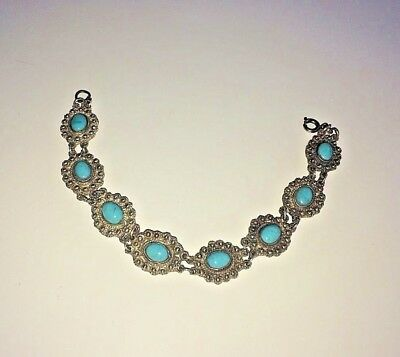imperial Russia 84 Silver Bracelet with turquoise workmaster Faberge