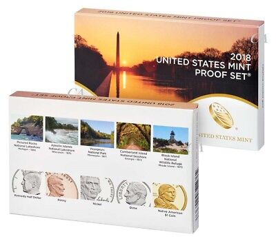 2018 S US Mint Proof Set clad 10 coin 18RG Official Issue