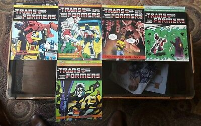 Transformers Comic Lot #13,20,21,23,26 Marvel UK High Grade