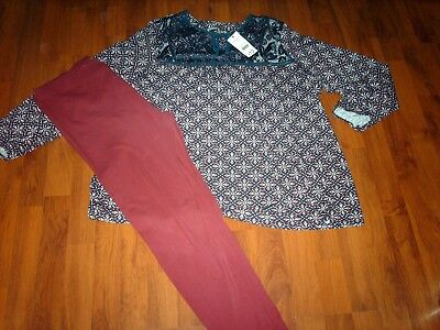 NWT~Lovely Ladies Outfit~Top & Leggings (size 24)