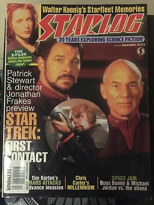 STARLOG #233 December 1996 SCI-FI MAG - STAR TREK - FIRST CONTACT & X-FILES VFN