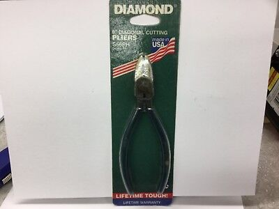 "Diamond 6"" Diagonal Pliers S56PH Side Cutter USA  NEW OLD STOCK"