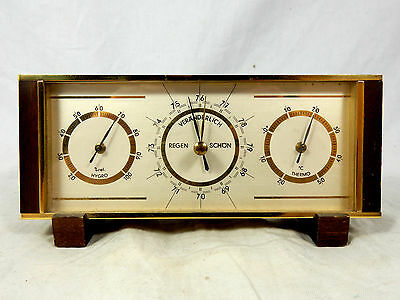 Schöne 60´s design Wetterstation Barometer , Thermometer etc. / weather station