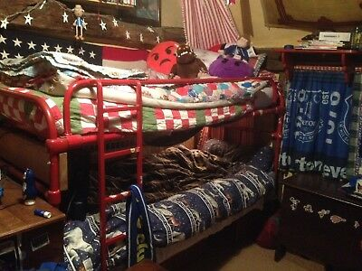 Vintage Iron Single Bunk Bed