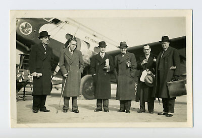 Michel Wibault, Pierre Cot & François Bréguet, Vol Air France - Rare Photo 1936
