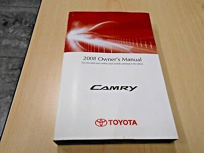 Camry Owners Manual 2008 / Part # 01999-33751 / Brand New