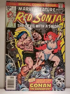 MARVEL FEATURE #7 Red Sonja VS Conan FRANK THORNE art Ships FREE