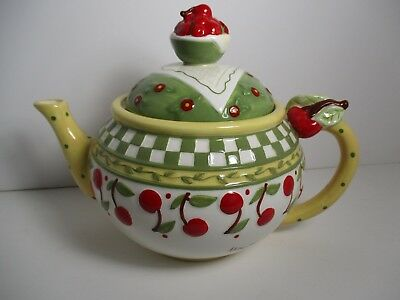 Mary Englebreit signed Teapot full size 1998 Enesco  Hard to Find!!