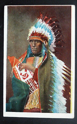 Tall Man Dan Sioux, Native American Postcard- Artist Signed (Embossed)
