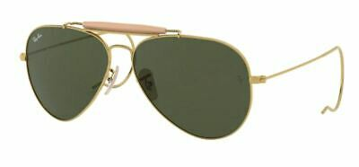 3eb94d5abc Ray Ban 3030 58 Outdoorsman L0216 Gold Sunglasses Sunglasses Gold Auction  Racoon