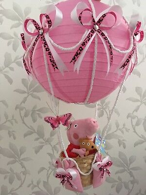 Peppa pig in hot air balloon lightshade lampshade for baby bedroom/nursery ❤️